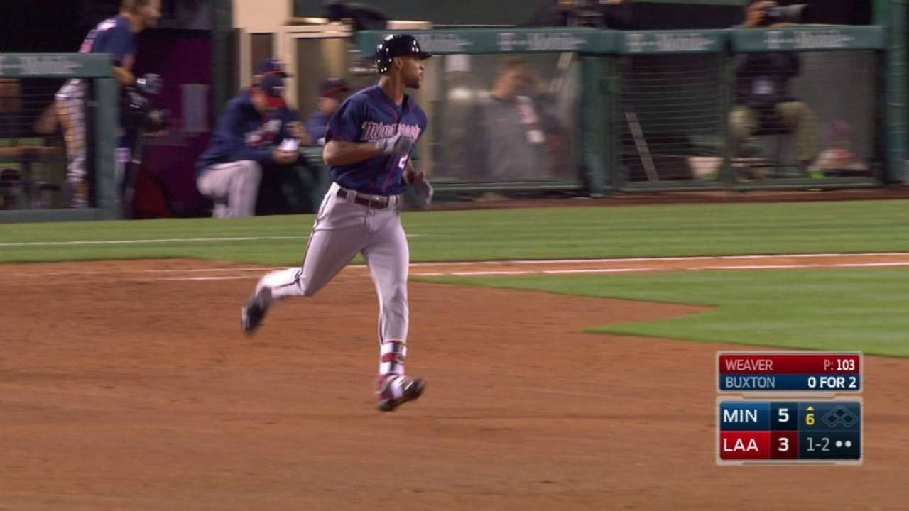 Buxton's solo home run