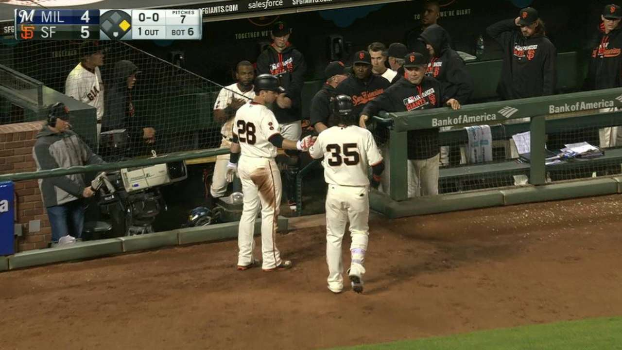 Crawford's sac fly to left