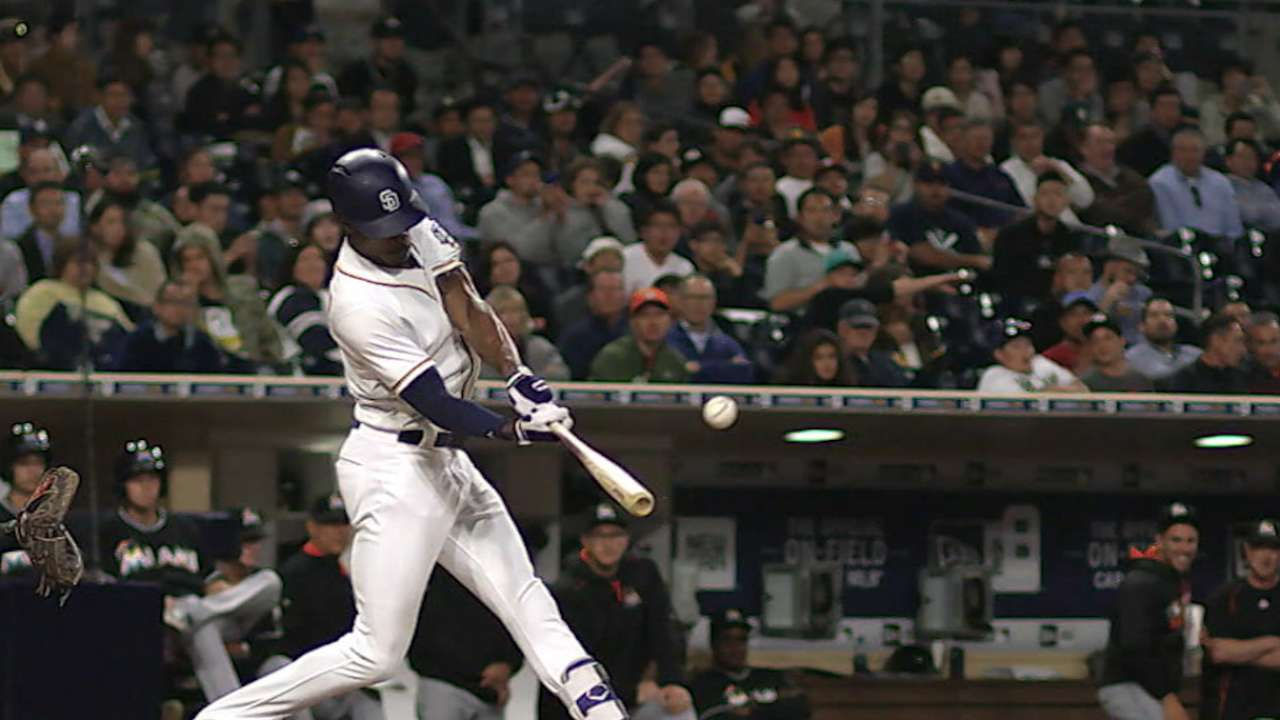 Padres hit four homers