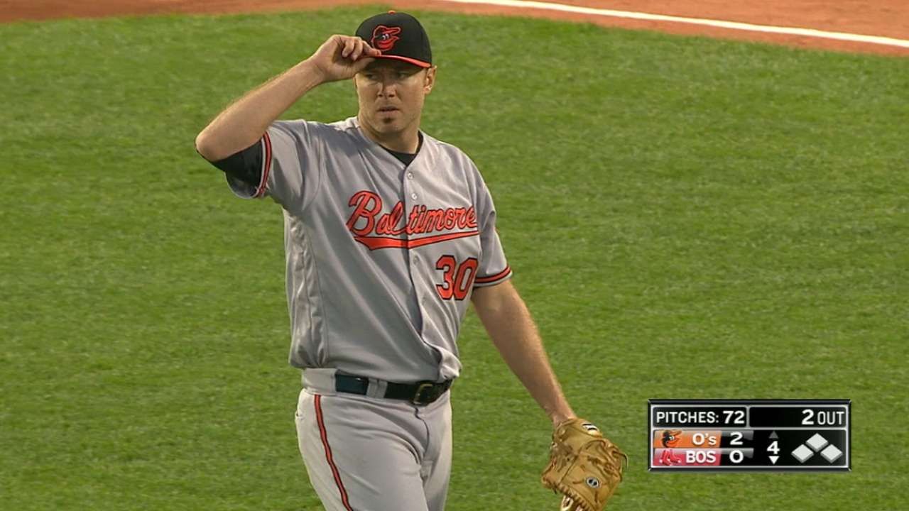 Tillman outduels Price as O's edge Red Sox