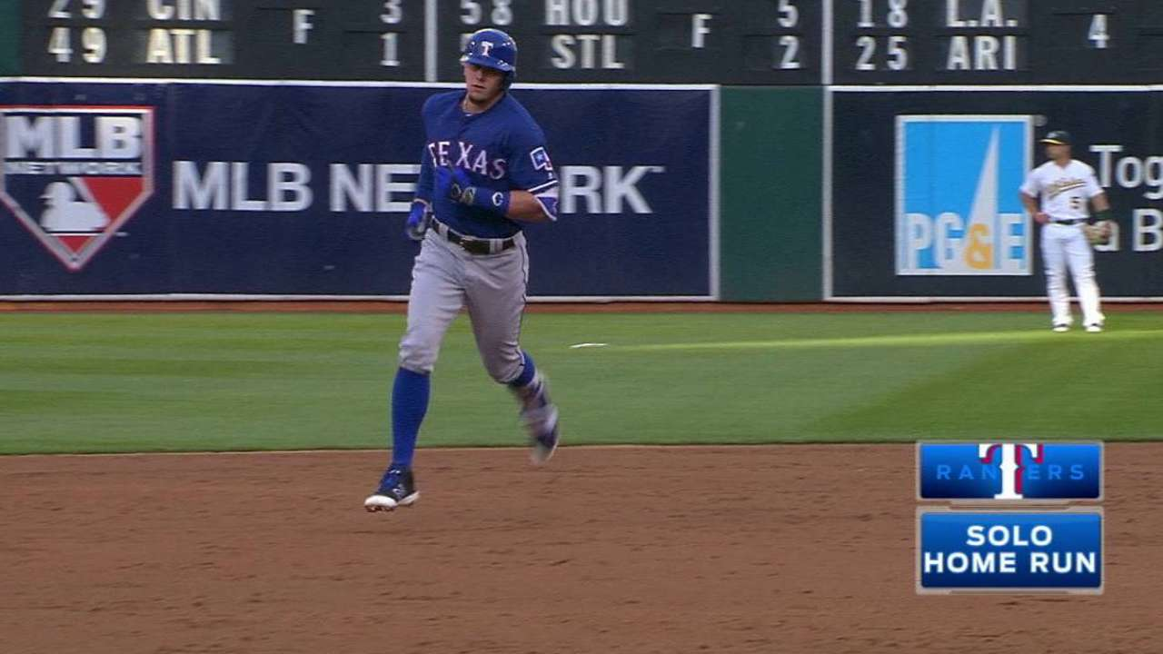 Three homers carry Rangers over A's