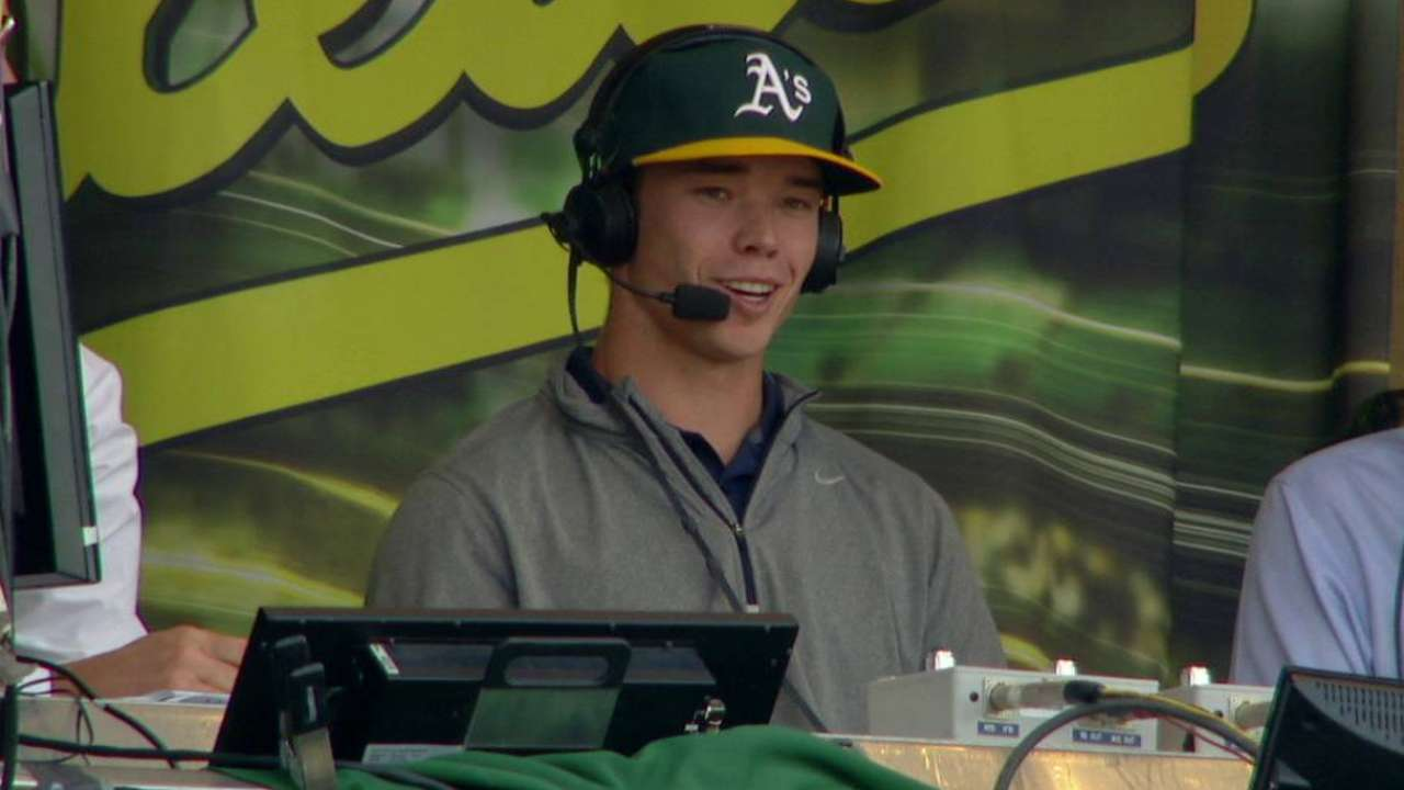 A's officially introduce Draft pick Jefferies
