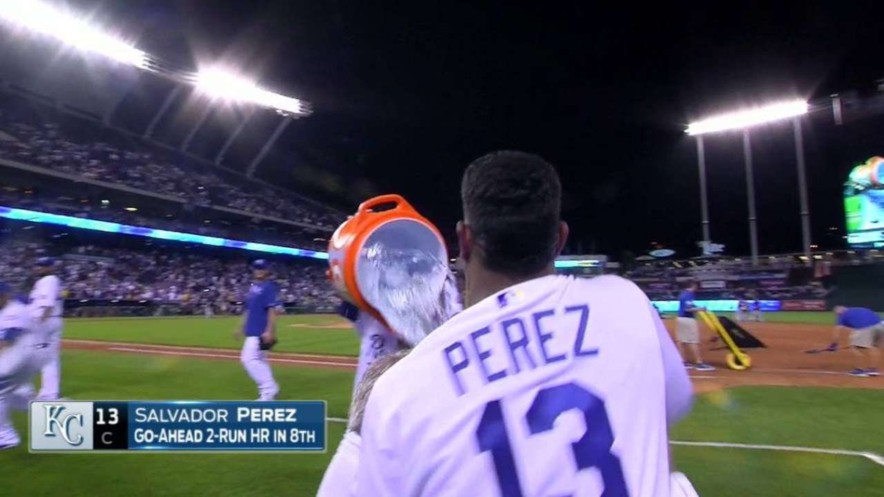 Perez gets doused