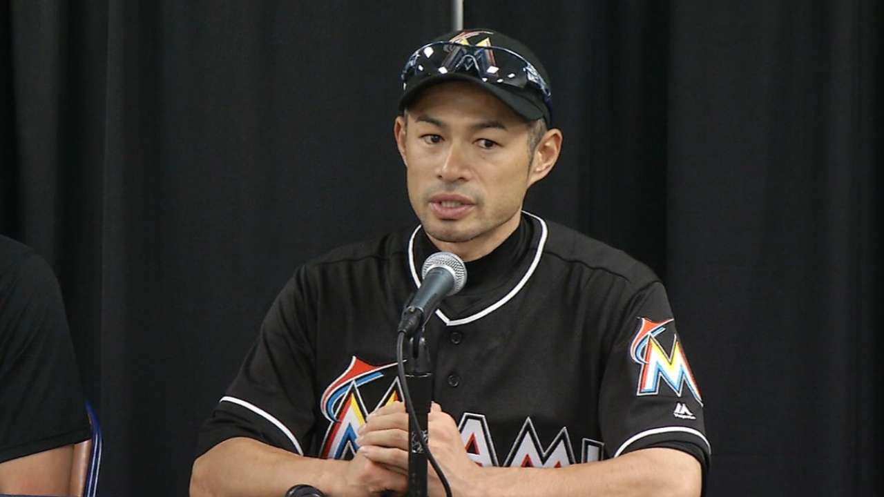 Ichiro discusses historic hit