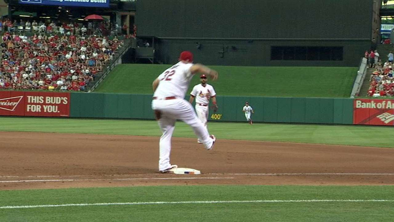 Adams starts a nifty double play