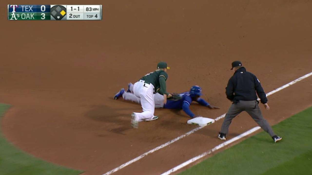 Phegley nabs Profar on pickoff