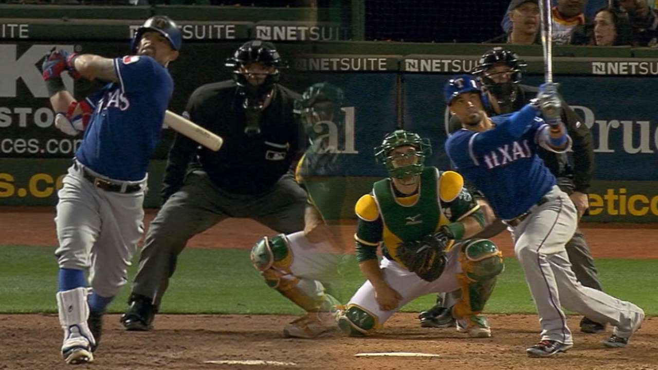 Chirinos, Odor hit 2 HRs to lift Texas over A's