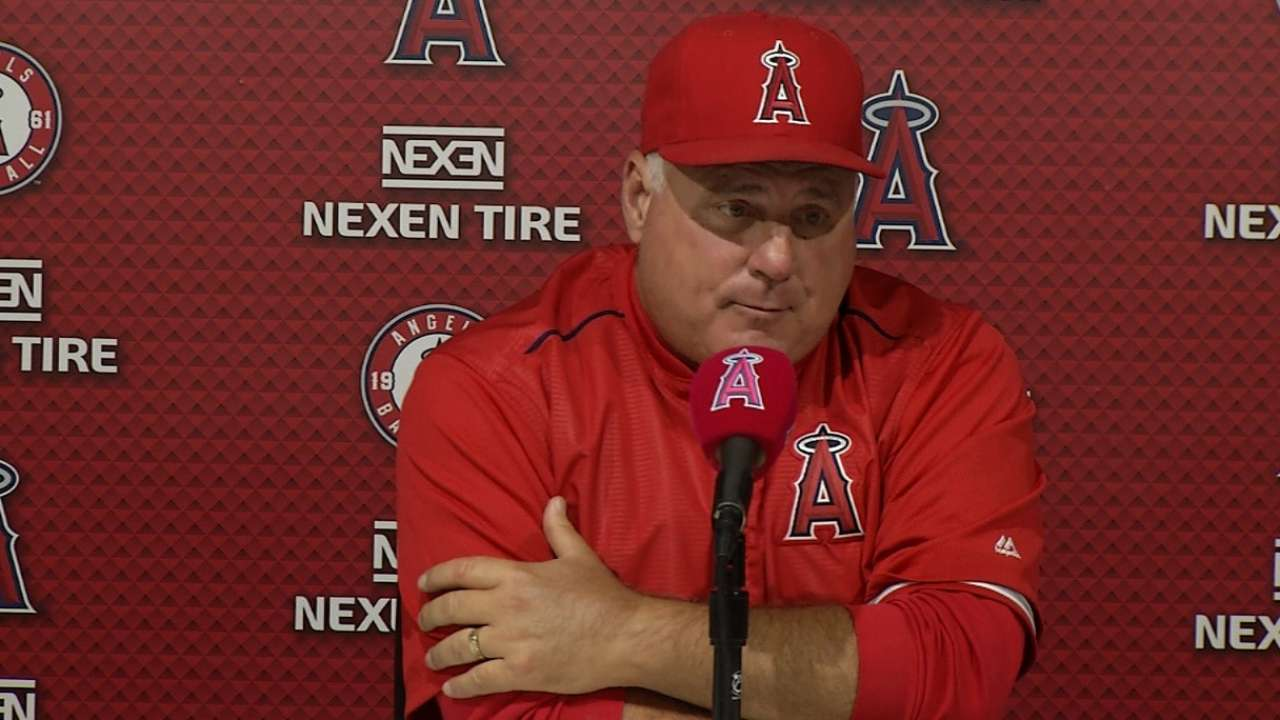 Scioscia on Santiago in 10-2 win