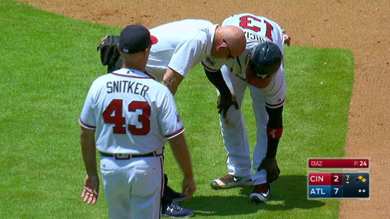 Garcia day to day with sore left ankle