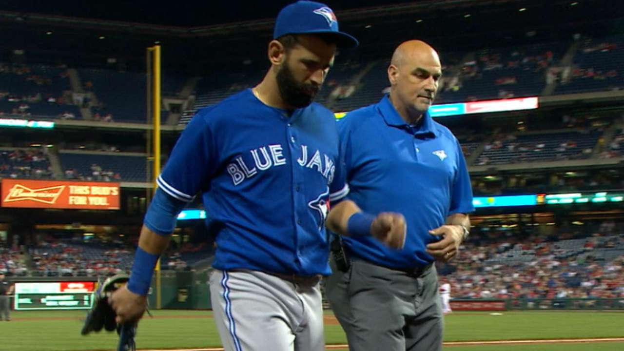 Bautista sees specialist for foot injury