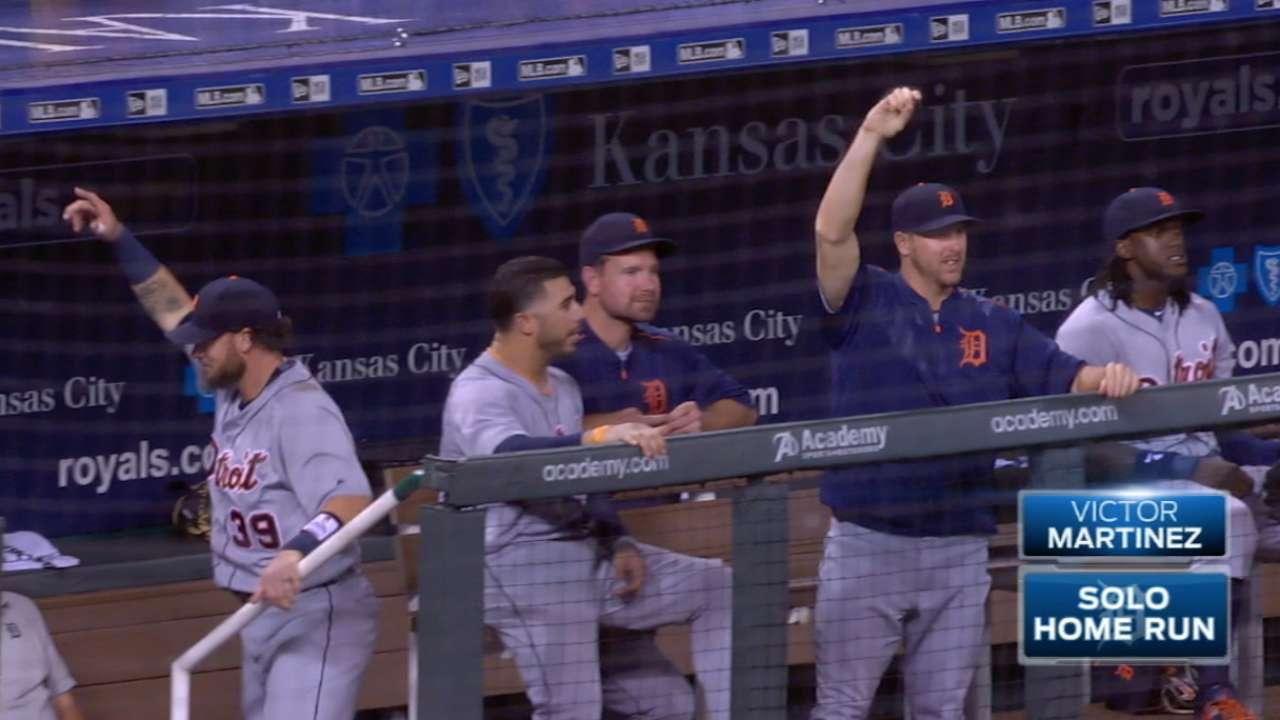 Tigers hit six homers vs. Royals