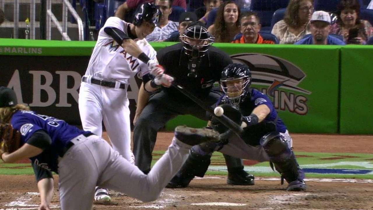 Yelich's two-run homer