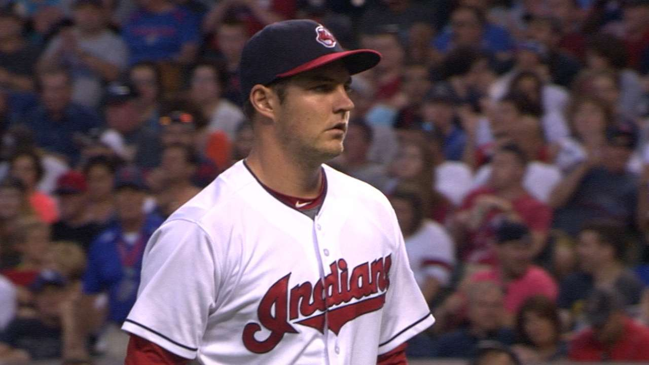 Bauer strikes out nine