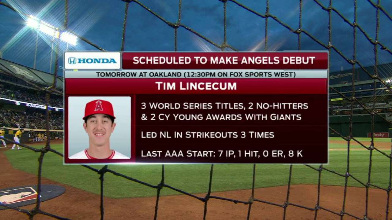 Excited Lincecum joins Angels
