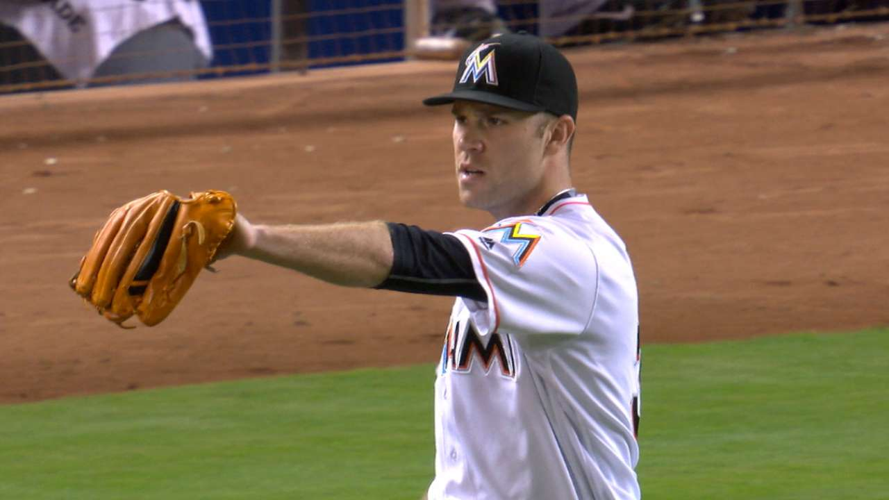 Marlins throw one-hitter