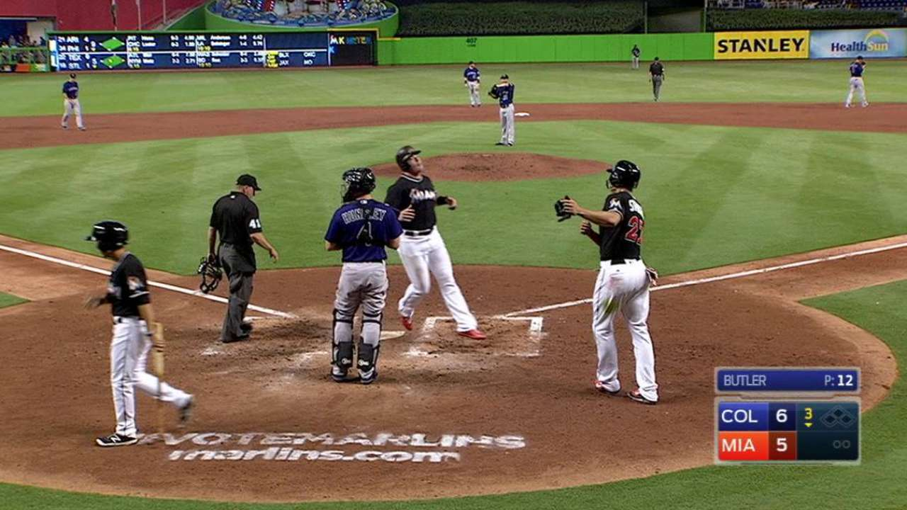 Bour's two-run homer