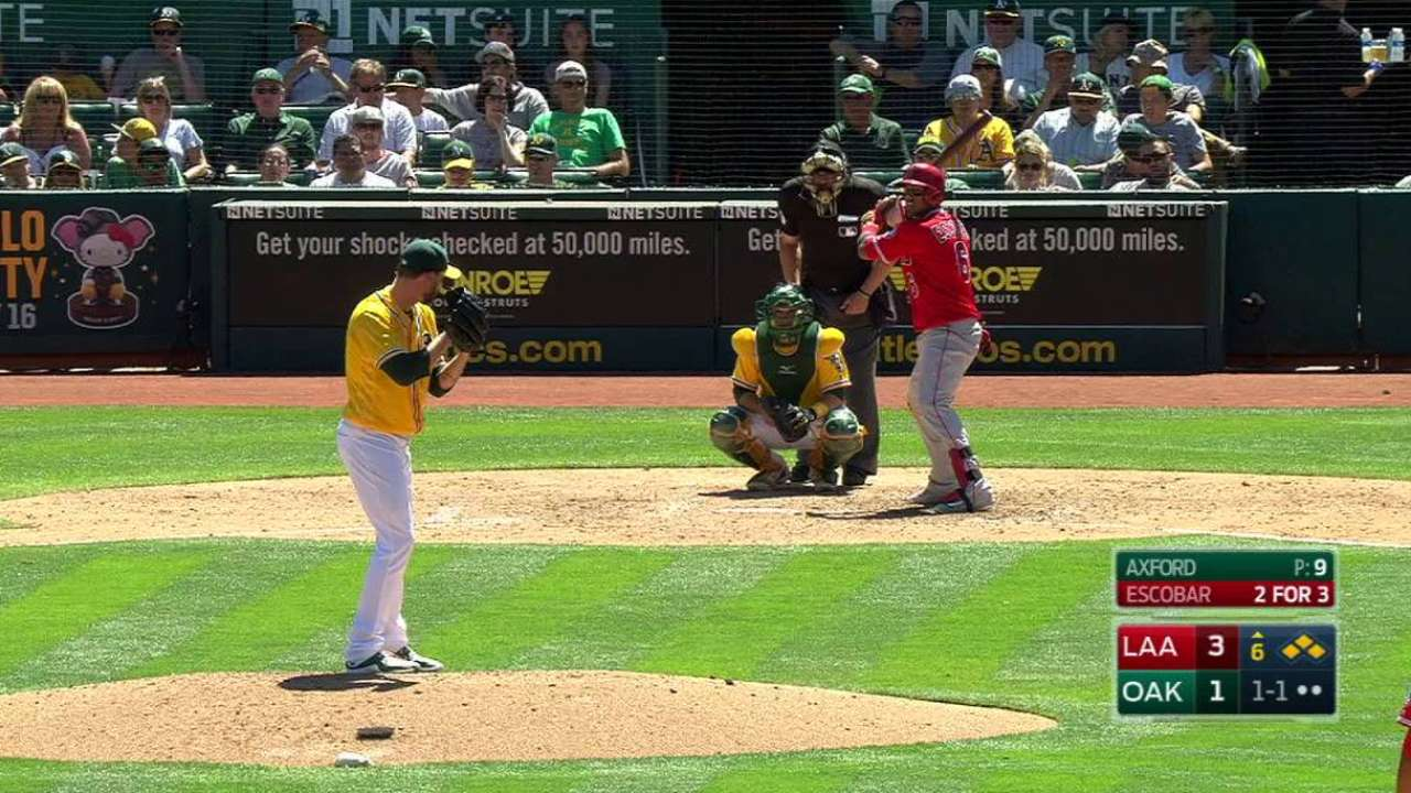 Yunel playing central role in Angels' offense
