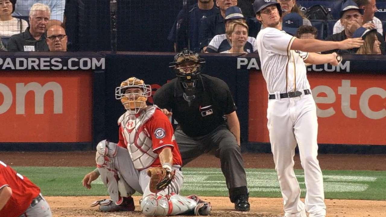 Myers' three-hit game