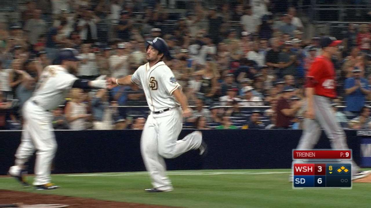 Padres plate six in the 8th