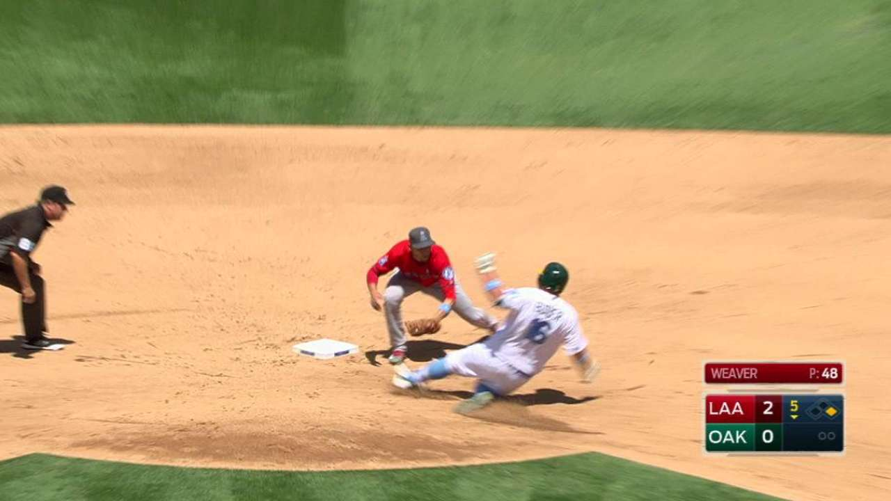 Trout's impressive throw