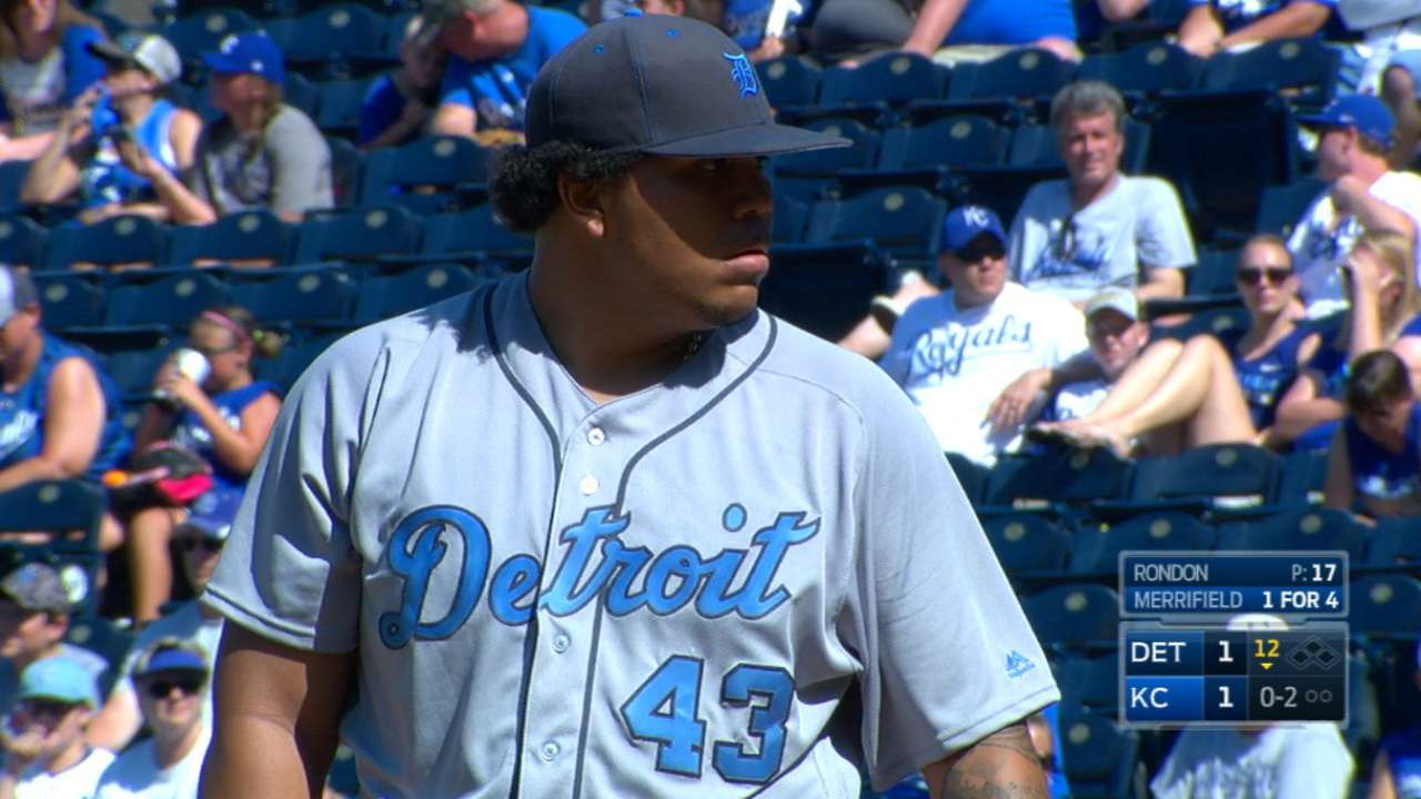 Rondon finding role in Detroit's bullpen