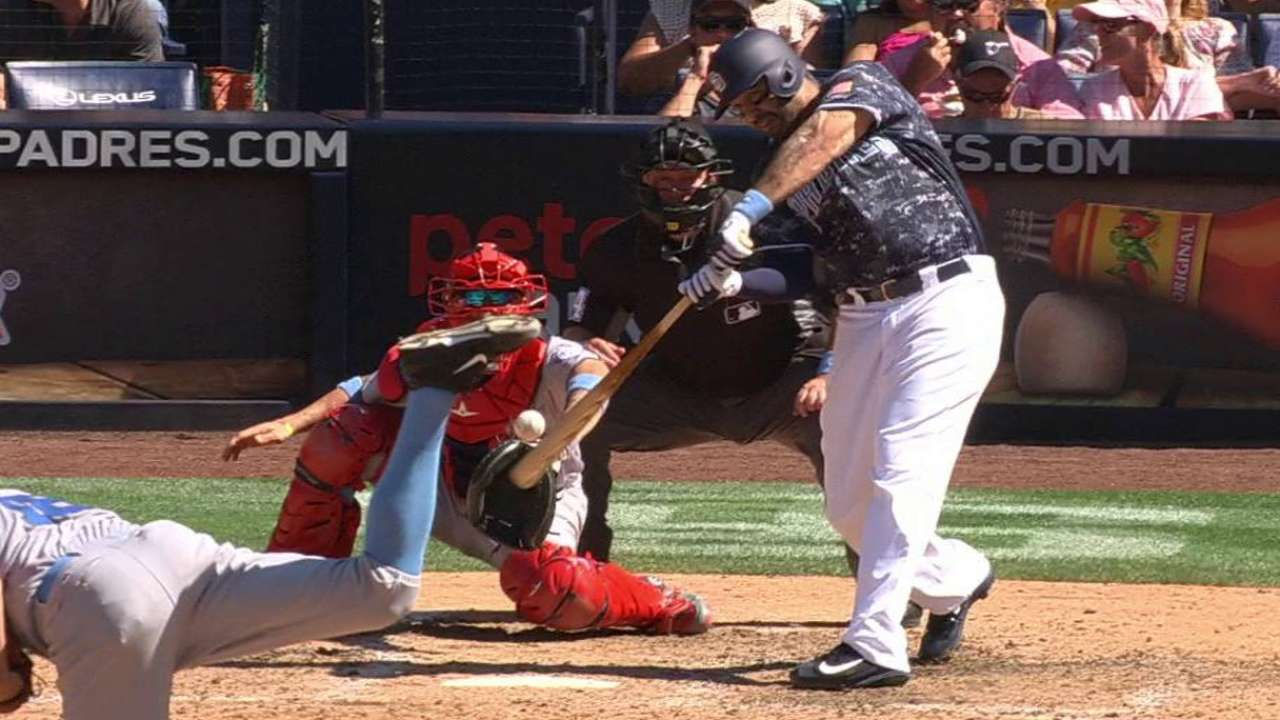 Padres' resilience shows in offensive output