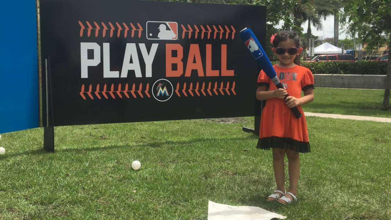 Marlins celebrate Play Ball Weekend