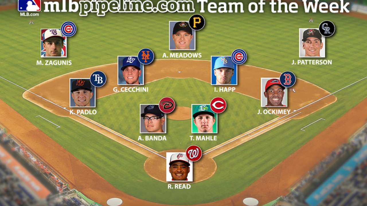 Pair of Cubs headline Prospect Team of the Week