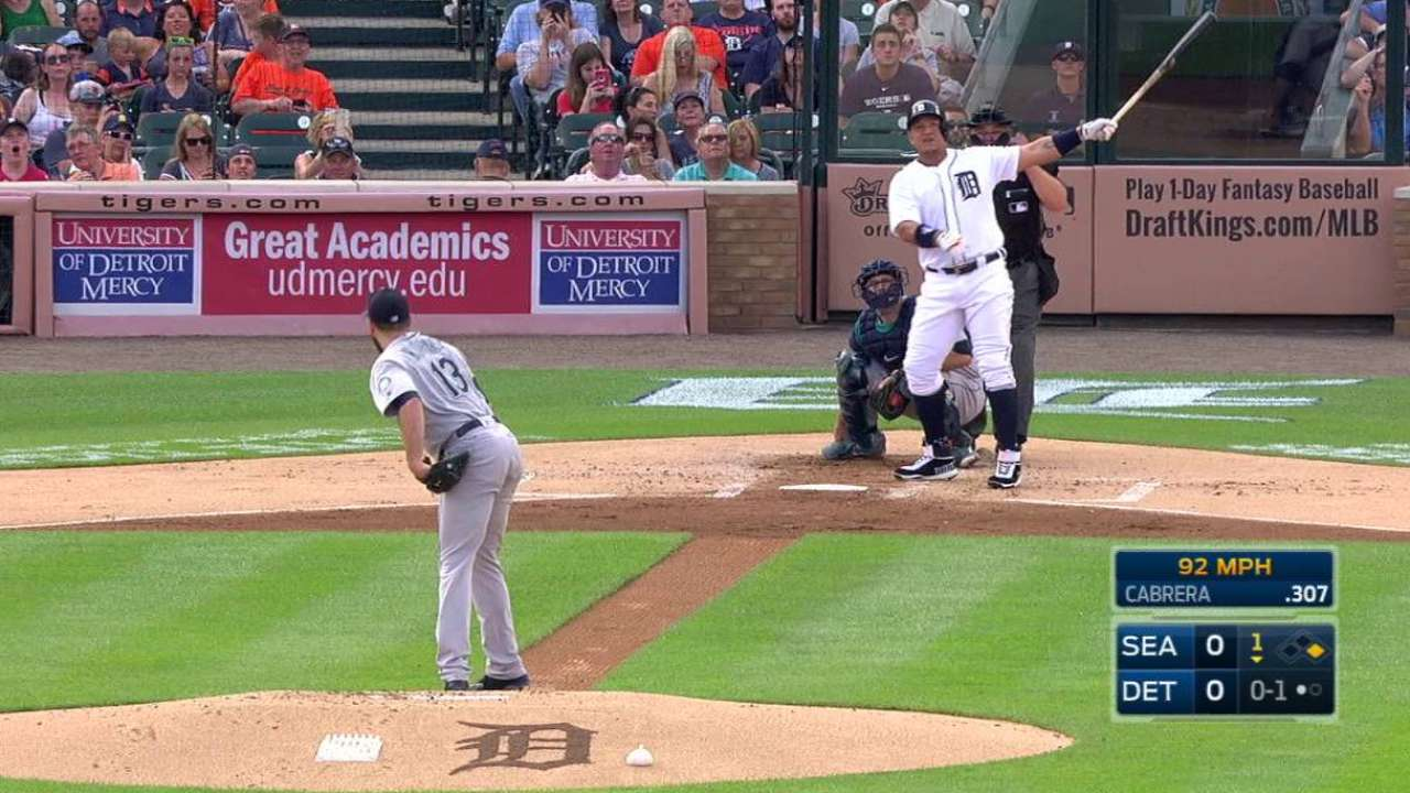 Miggy goes deep on 13th anniversary of 1st homer