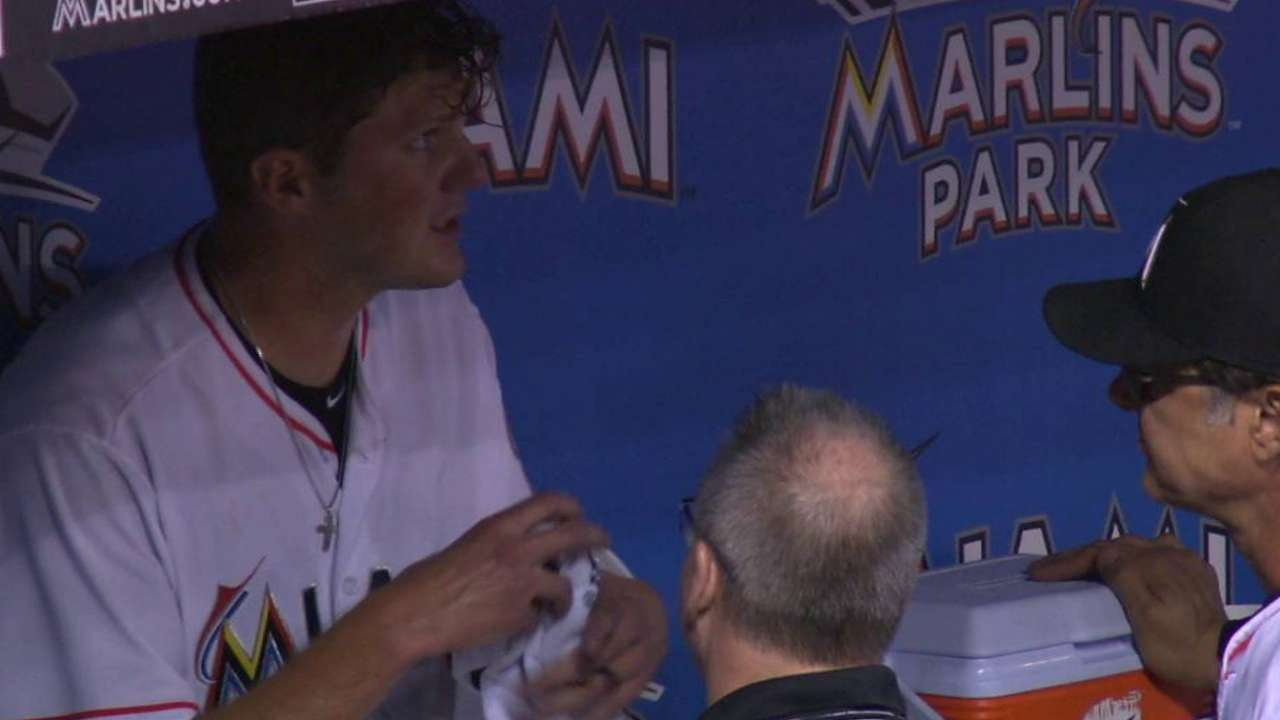 Clemens gets checked on