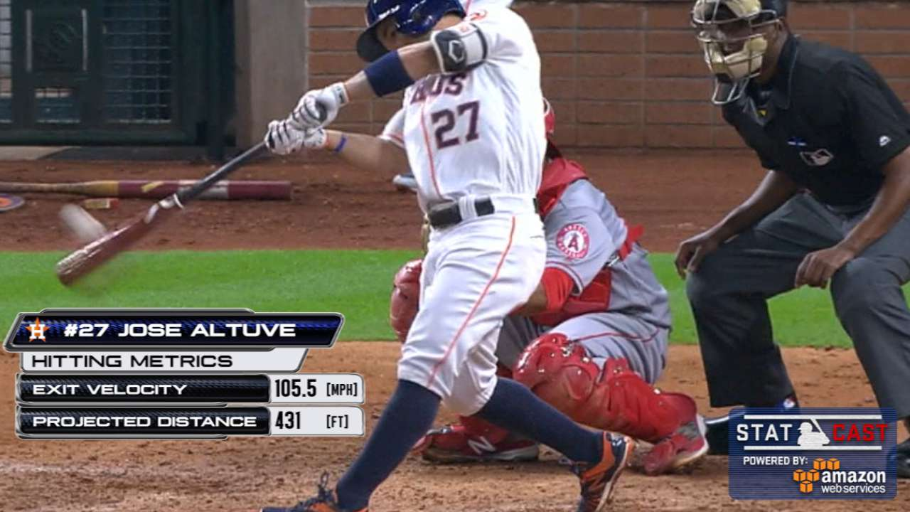 Middle of order comes up big for Astros