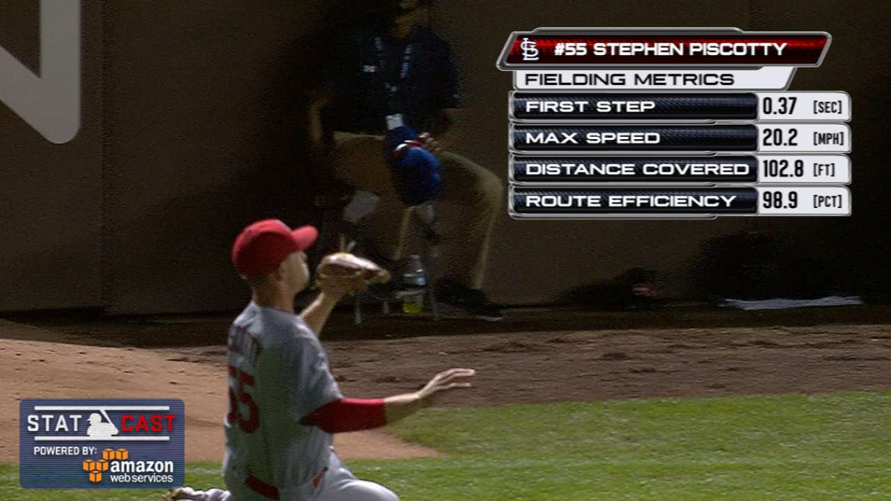 Statcast: Piscotty's great grab