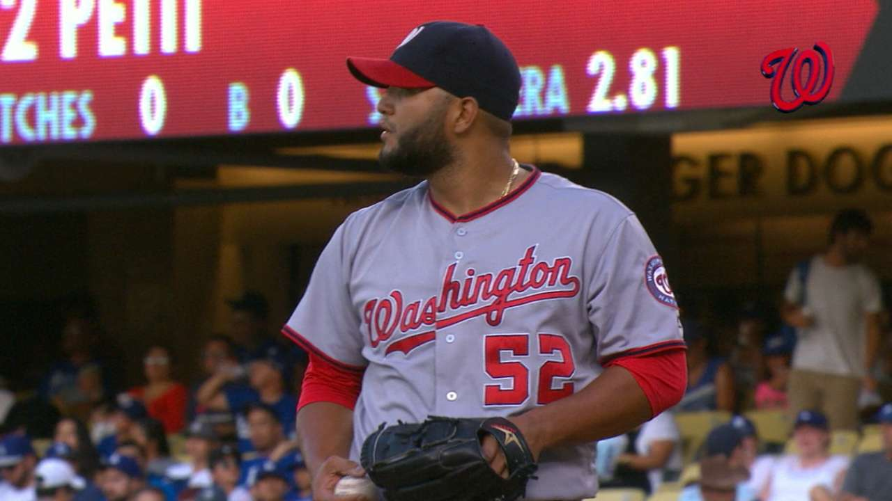 Petit steps up, delivers quality start for Nats