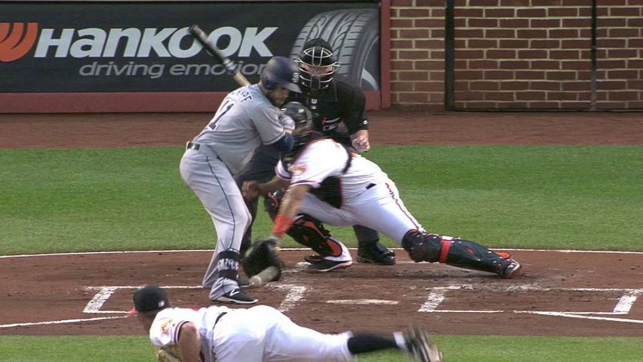 Schimpf's hit-by-pitch