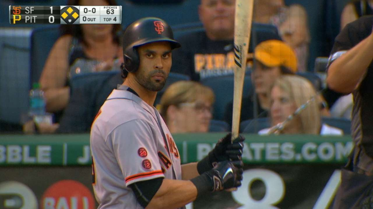 Pagan's grand slam sends Giants off on romp