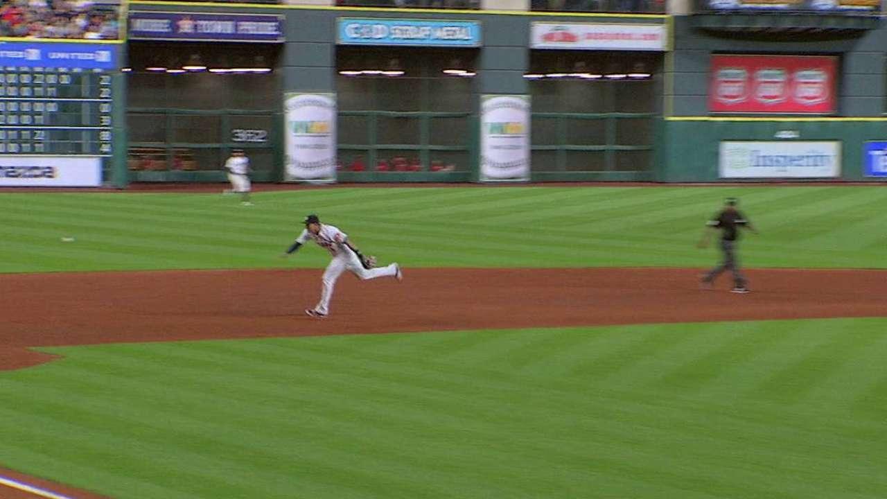 Correa flashes leather