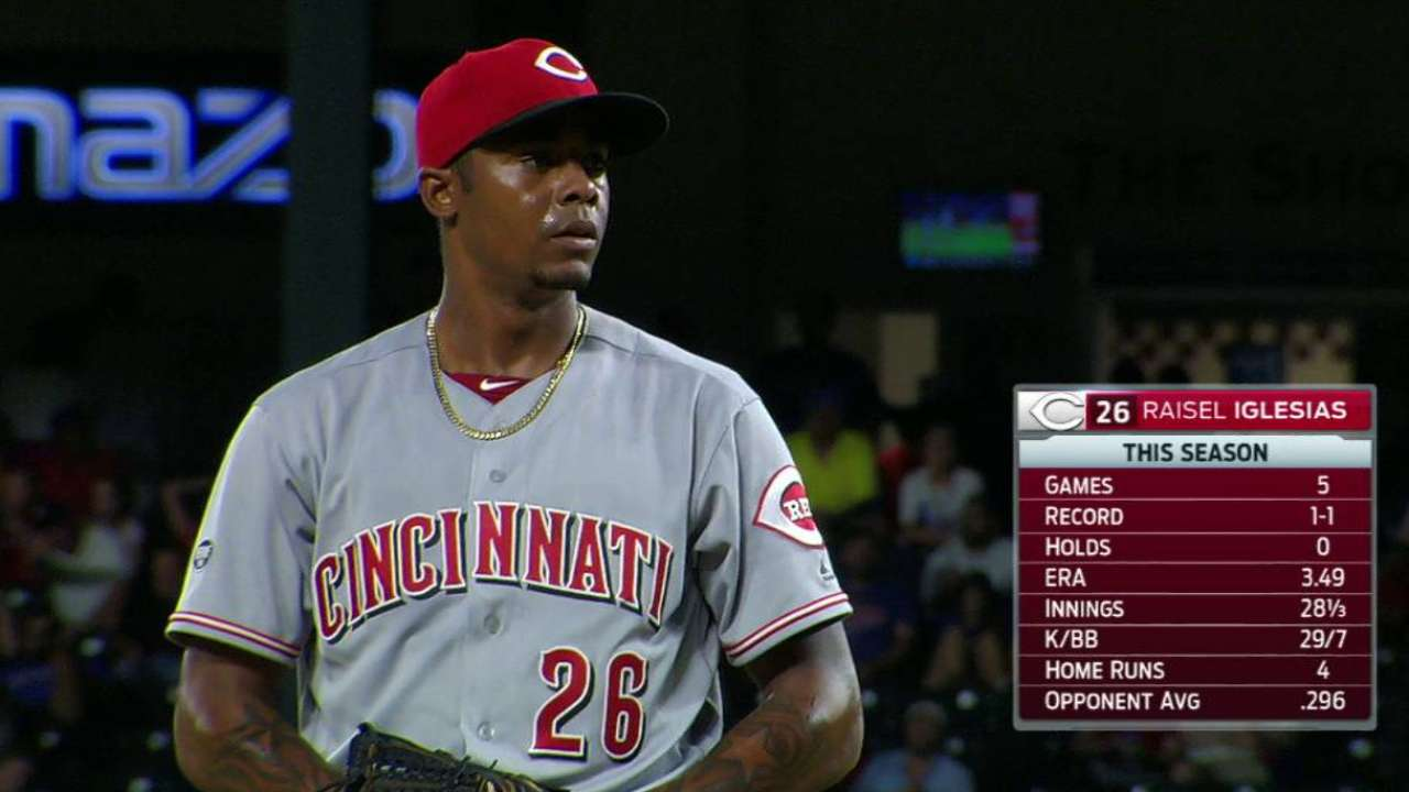 Reds activate Iglesias, place Wood on paternity list