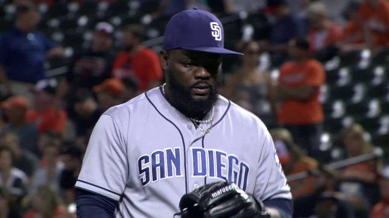 Rodney works Padres out of jam