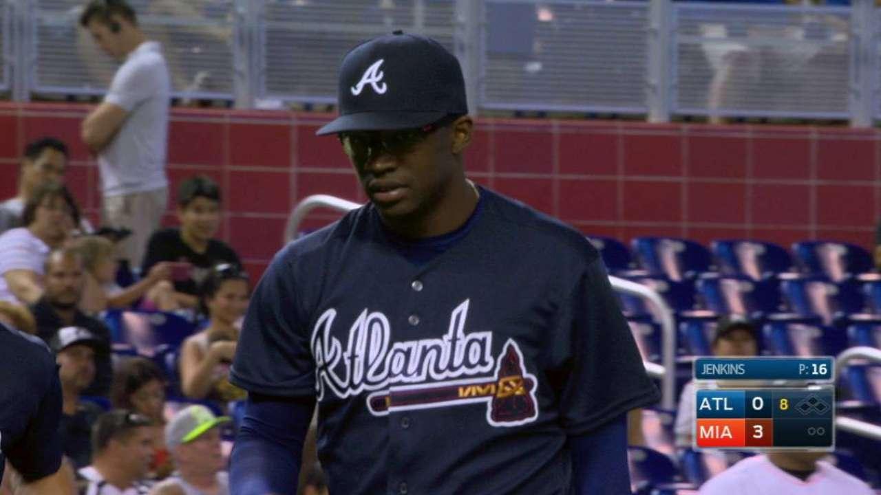 Jenkins' Major League debut