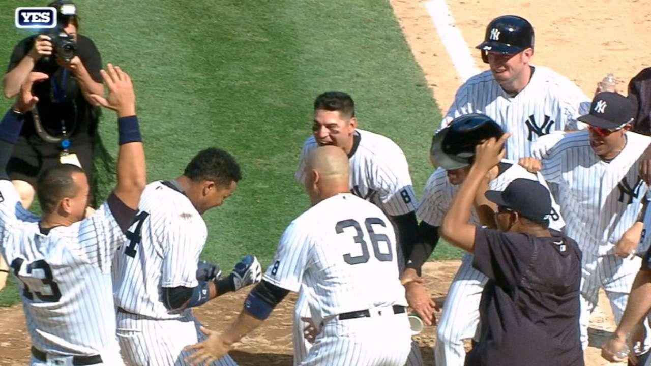 Yankees vencen a Rockies con HR de oro de Starlin Castro