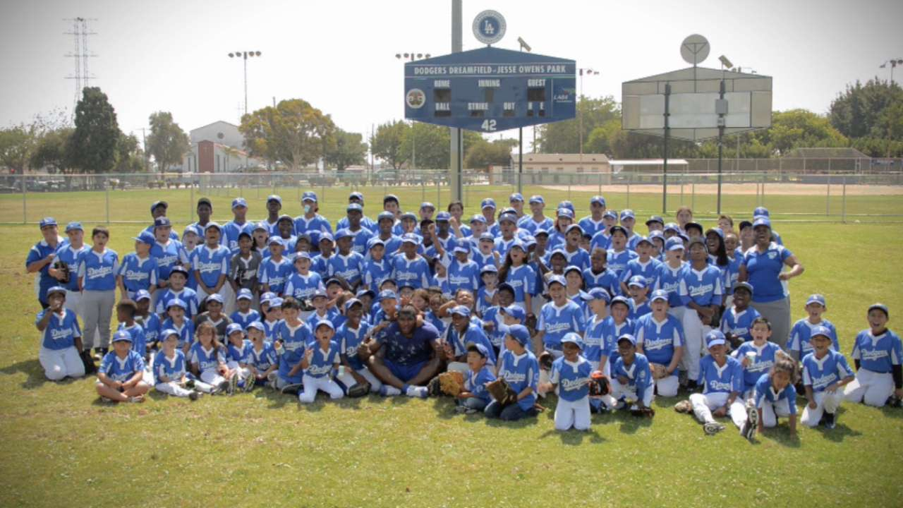 Puig surprises local RBI players, hosts clinic