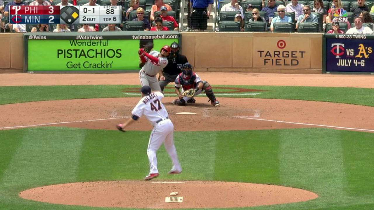 Galvis' RBI triple off the wall
