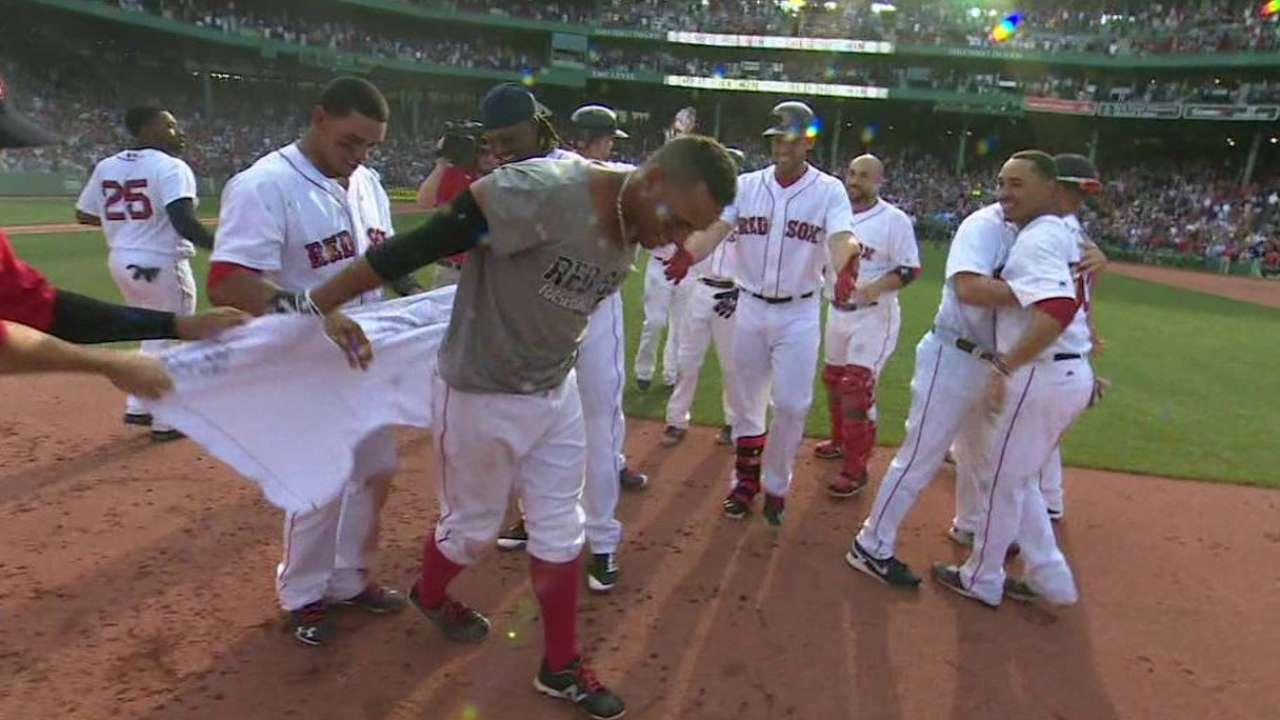 Red Sox walk off with much-needed getaway win in extras