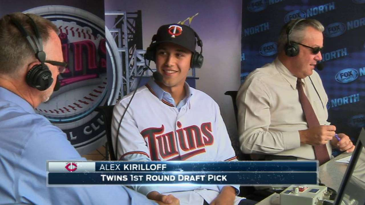 Twins announce signing of first-round pick Kirilloff