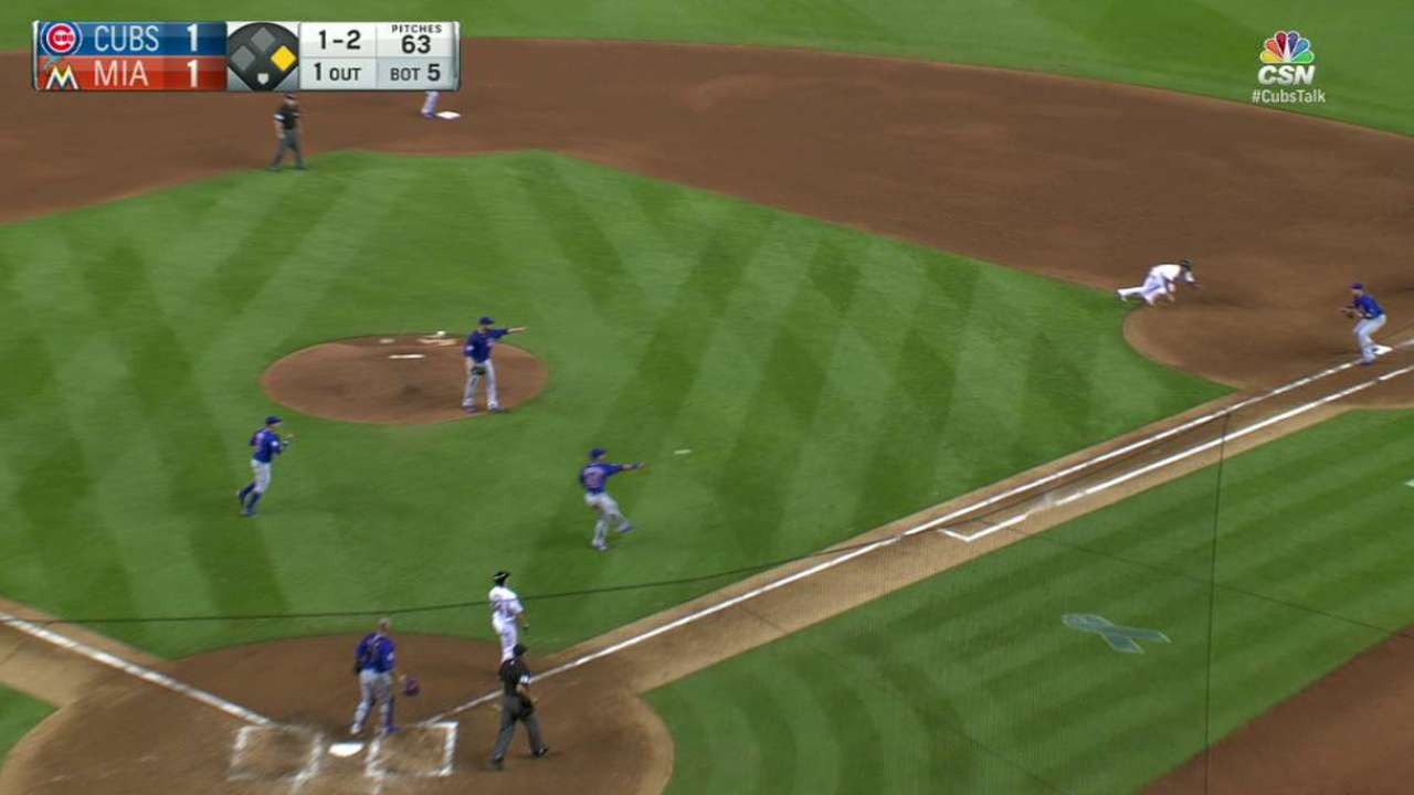 Contreras' surprise text: 'You're playing first base'