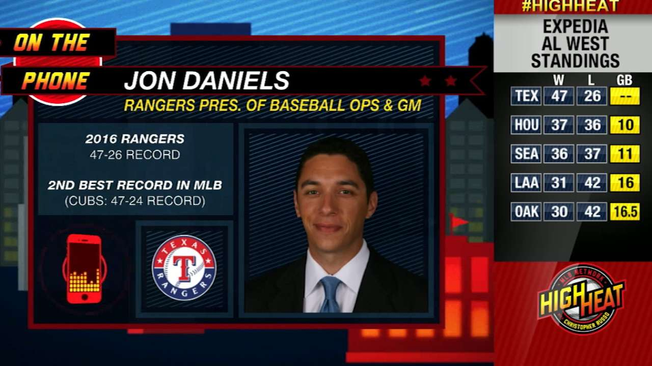 Daniels, soaring Rangers won't be complacent