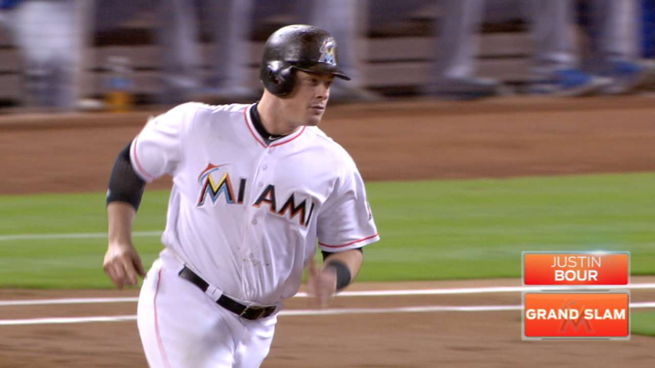 Bour slam highlights Miami's quick-strike offense