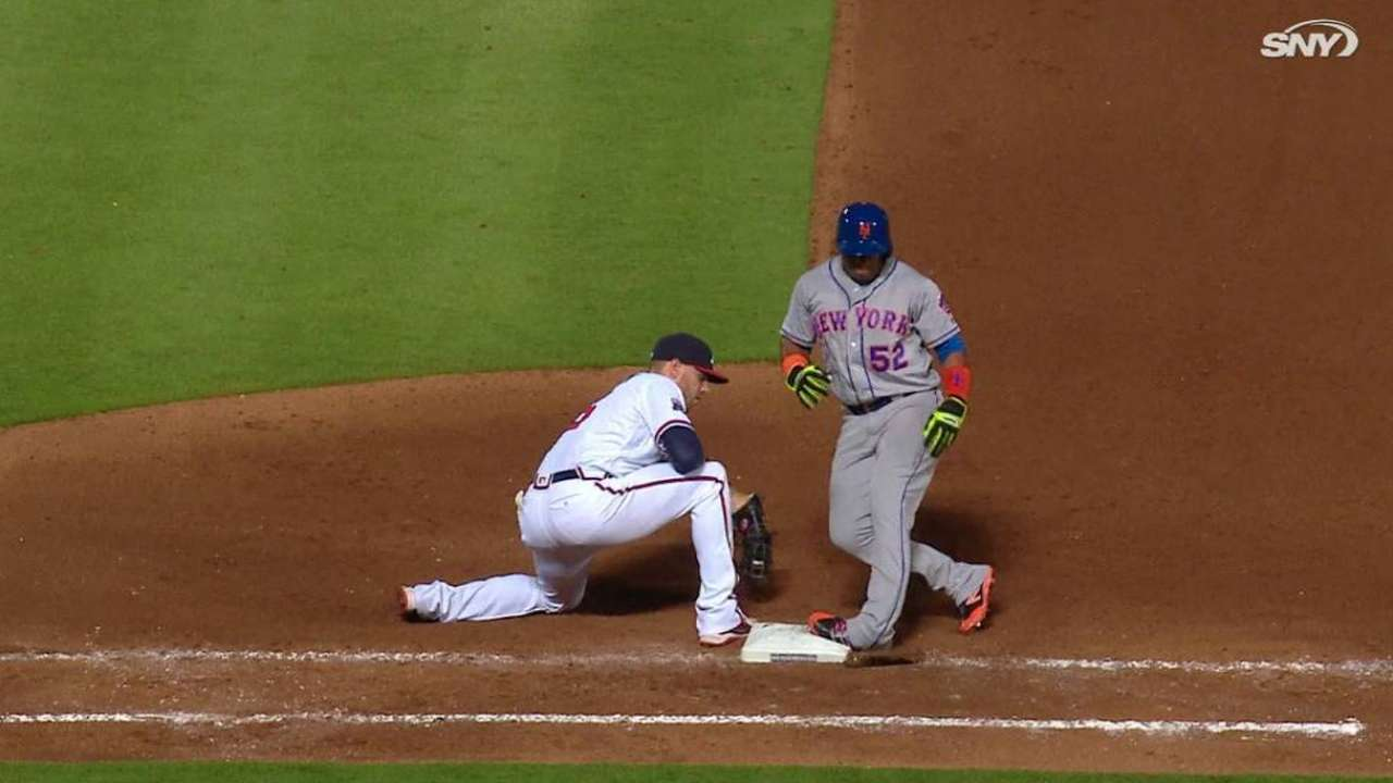 Cespedes twists ankle at first