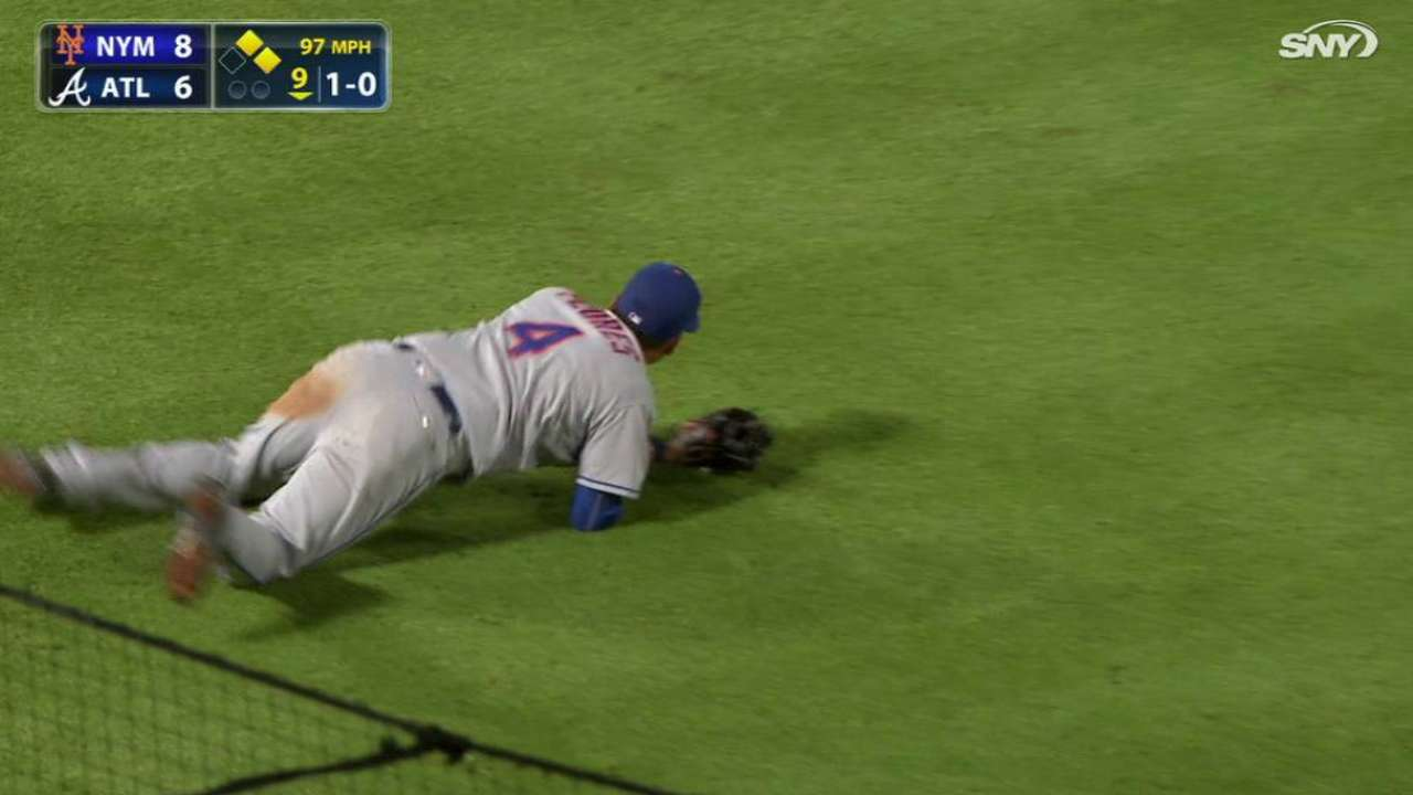 Flores' clutch double play