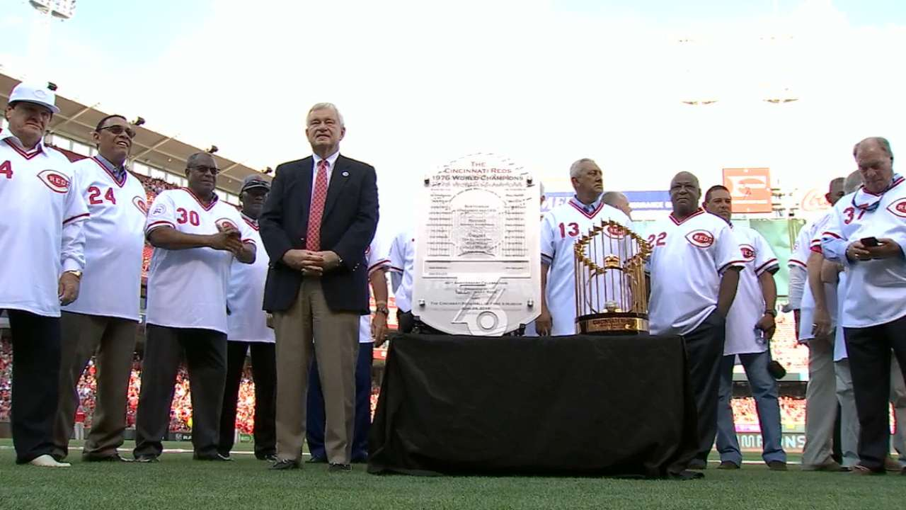 Big Red Machine honored for 40th anniversary